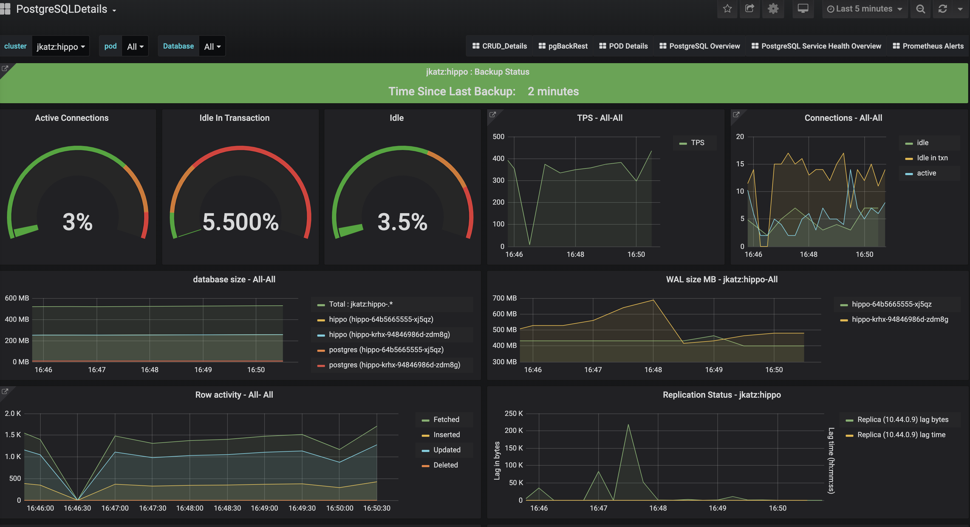 PostgreSQL Operator Monitoring